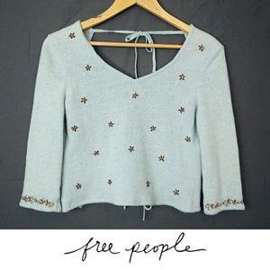 Free People Vintage Wool Blend Backless Crop Top